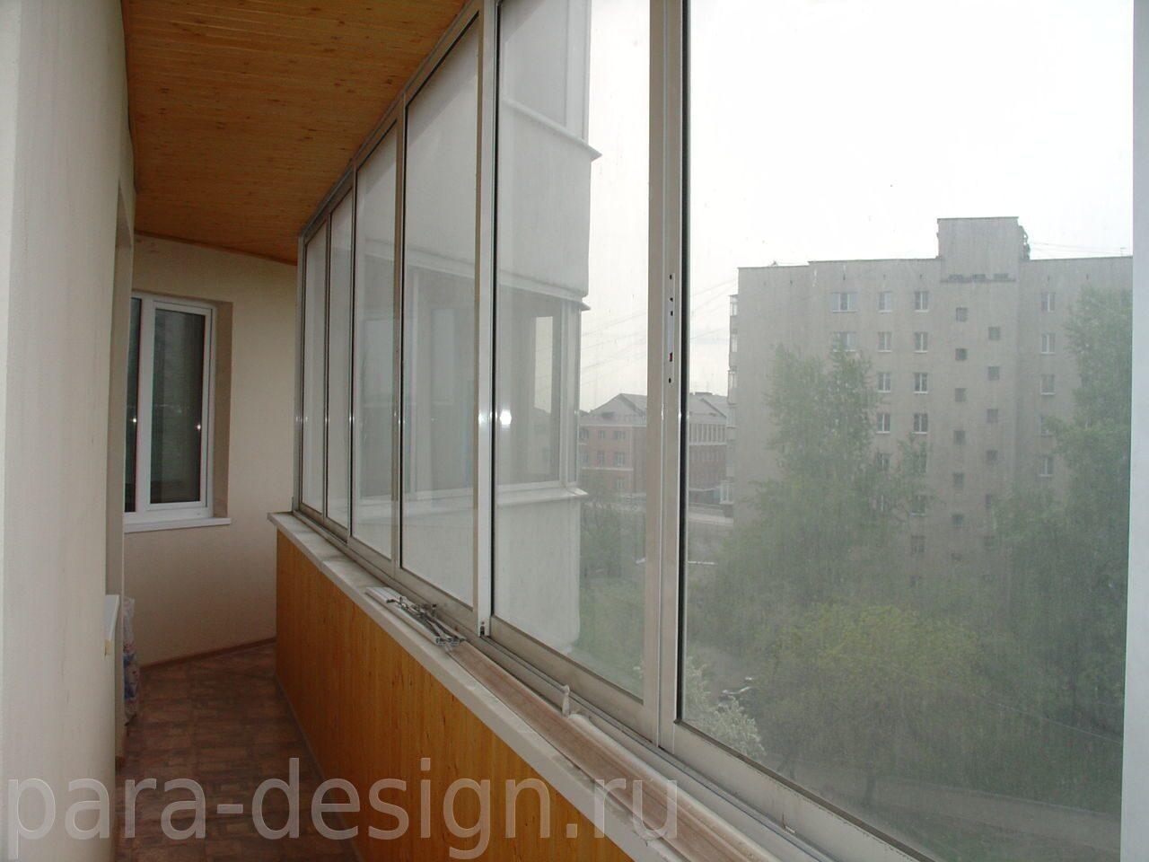 Балкон под ключ с остеклением и отделкой в екатеринбурге, ре.